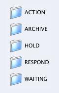 Složky v Mail.app
