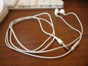 iPhone sluchátka